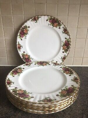 "Royal Albert Old Country Roses 6 10.25"" Dinner Plates • 25£"
