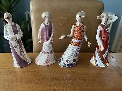 Rare Crown Derby Classic Collection Full Set Of 4 Figurines • 50£