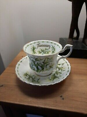 Royal Albert Flowers Of The Month Cup & Saucer January - Snowdrops • 15£