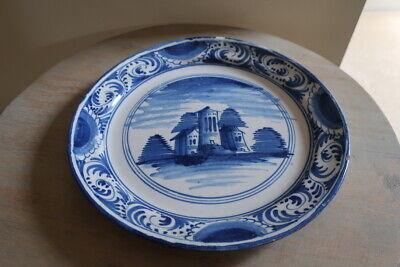 Antique Delft Plate 1760/80 Hand Painted • 80£