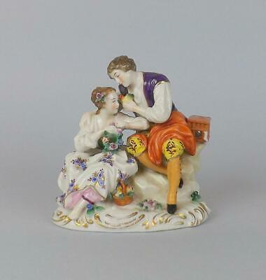 Antique Porcelain German Volkstedt Dresden Figurine Of Young Couple • 17£