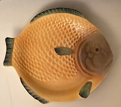 """Vintage Shorter And Sons Large Fish Plate 9.1/4"""" X 8.1/4"""" 1920-30`s Art Deco • 14.50£"""