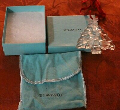 TIFFANY & CO Vintage 1994 Christmas Tree Ornament Signed Crystal-Glass, Germany  • 57.70£