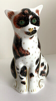 Royal Crown Derby Paperweight Mother Cat With Gold Stopper • 69.95£