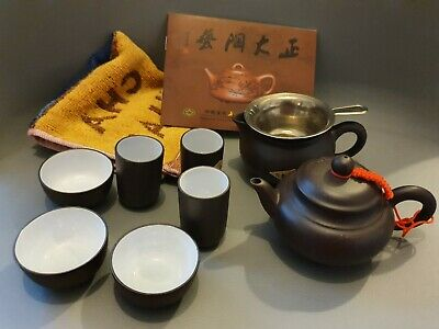 Chinese Yixing Teapot And Tea Cup Set • 9.99£