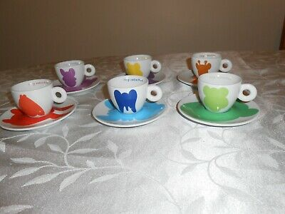 Illy 2001 Espresso Coffee Cups And Saucers , Jeff Kloon Collection By Rosenthal • 175£