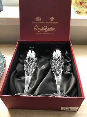 Royal Brierley Berkeley Crystal Flutes, New In Box • 25£