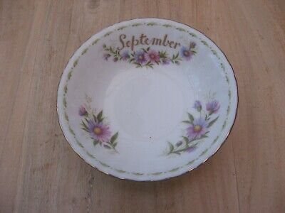 ROYAL ALBERT FLOWER Of The MONTH FRUIT Or CEREAL BOWL SEPTEMBER MICHAELMAS DAISY • 7.99£