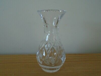Royal Brierley 17cm Crystal Cut Glass Vase - Signed • 5£
