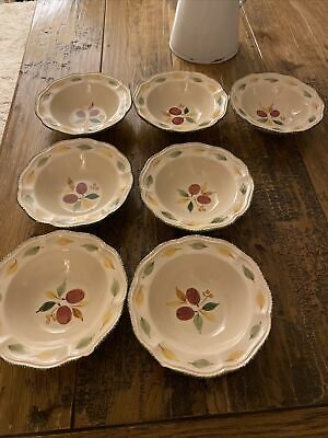 M&S Damson Pottery Cereal Bowls X 7 • 30£