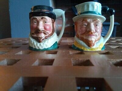 Small Toby Jugs ,Sir Francis Drake &Walter Raleigh • 7.99£
