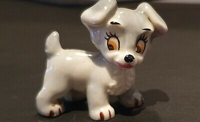 Vintage Wade Whimsies Disney Collectible Figure Scamp From Lady And The Tramp • 12£
