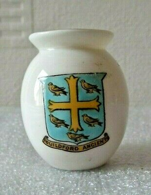 W.H.Goss Crest China  Urn Guildford Ancient • 4£