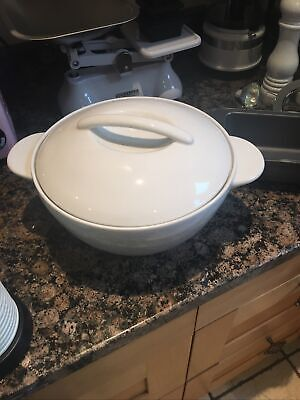 Denby White Serving Dish With Lid • 20£