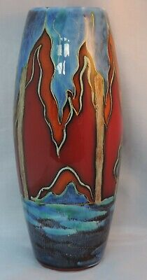 Anita Harris Trial Vase For Carlton Ware - Landscape With Trees - Printed Mar... • 150£