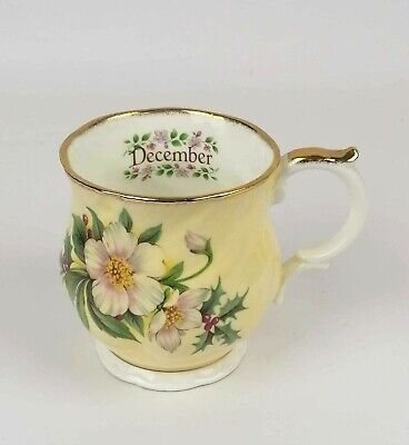 Queen's China Staffordshire Fine Bone China 'december' Cup Crownford Product • 8.47£