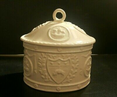 Vintage Royal Creamware Occasions Oval Jar With Lid-Excellent Condition • 26.90£