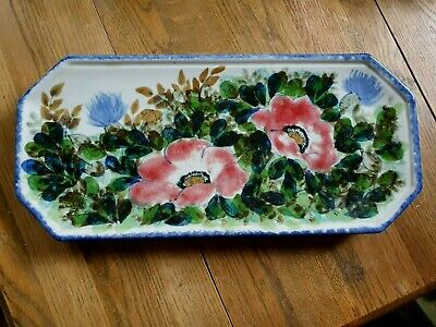 Handpainted Highland Stoneware Serving Plate Dish Platter Perfect Condition 43cm • 50£
