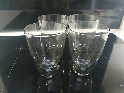 Set Of 4 Vinrage Charcoal Coloured  Smoked Glass Glasses/Tumblers • 4£
