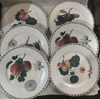Set Of 6 Queen's The Royal Horticultural Society Hookers Fruit Salad Plates • 19.99£