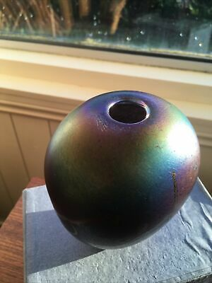 Glasform JOHN DITCHFIELD Iridescent Glass Vase - Signed & Numbered - 5in Plus • 85£