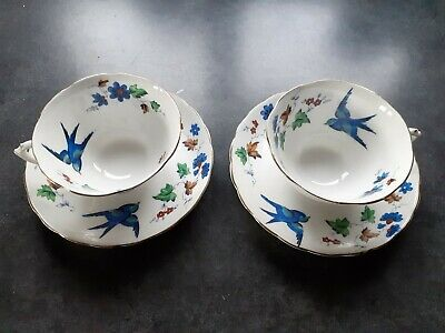 Pair Of Tuscan China Tea/Coffee Cups And Saucers • 7£