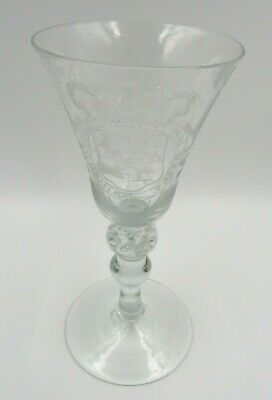Reproduction Etched Glass Goblet 'Prince De Orange' In The Antique Style • 150£