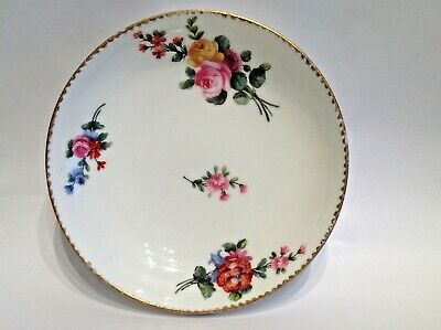 French Porcelain Saucer . Dated 1771. Hand Painted , Flowers.  • 85£