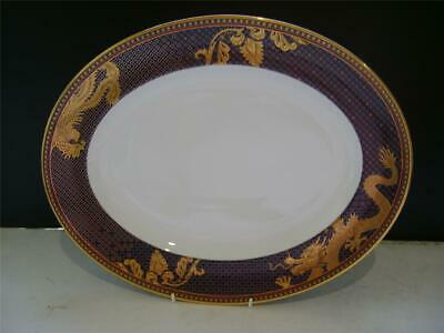 Beautiful 14  Oval Platter In  Imperial Blue By Wedgwood. • 59£