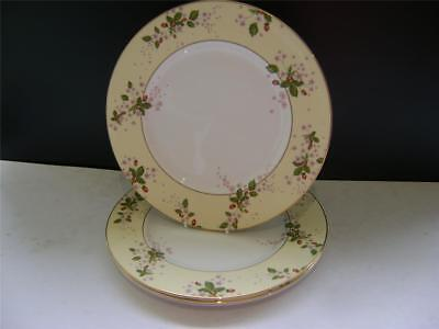 Stunning Set Of 4 Dinner Plates In  Yellow Strawberry Bloom  By Wedgwood. • 50£
