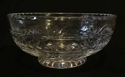 Stuart Crystal Footed Fruit/Trifle Bowl Signed • 22£