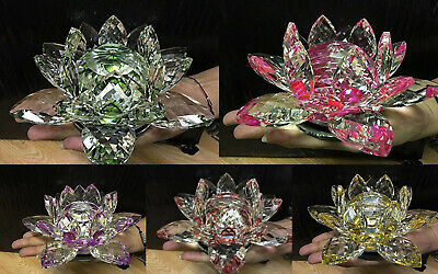 Crystocraft Crystal Lotus Flower Large Spinning Ornament Crafts Home Decoration  • 19.99£