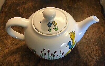 Vintage Rare Wade Duck Pattern Teapot - Whirlow Hall Farm Trust - Vintage Home • 12£