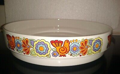 Vintage , 60 S, Lord Nelson Gaytime Flan / Pie Dish 25cm X 2.25 Cm, Shallow Dish • 10.99£