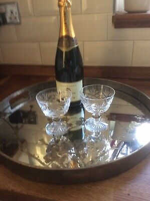 Stuart Crystal Champagne Coupes. Set Of Two. • 20£