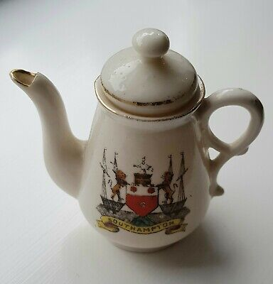 A Vintage Miniature 'Crested Ware' Southampton Teapot (By Gemma) • 3.99£