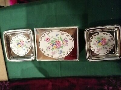 Grays Pottery Lustre Wear Trinket Box And 2 Pin Trays • 9£