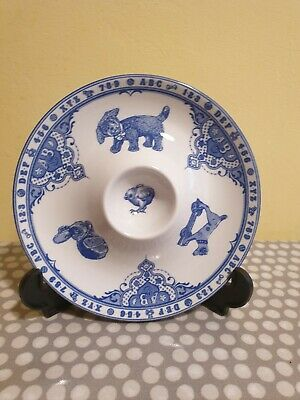 Spode Blue & White  Edwardian Childhood  Ceramic Egg Cup/Plate. VGC • 9.90£