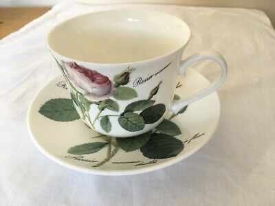 Roy Kirkham Fine Bone China ' Redoute Roses ' Large Breakfast Cup & Saucer • 10.99£