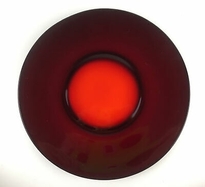 Vintage Ruby Red 11.25 Inch Serving Plate/Charger • 9.57£