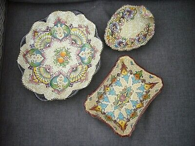 3 Vintage Ceramic Bowls From Sorrento Hand Painted • 10£