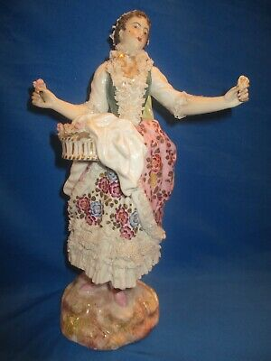 Antique French Porcelain Lady  Figurine   C.1890 • 118£