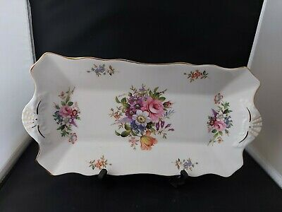 Hammersley Howard Sprays 30cm Bone China  Sandwich Tray - Vintage VGC • 19.99£