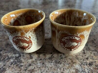 2 Fosters Honeycomb Pottery Egg Cups • 12.99£