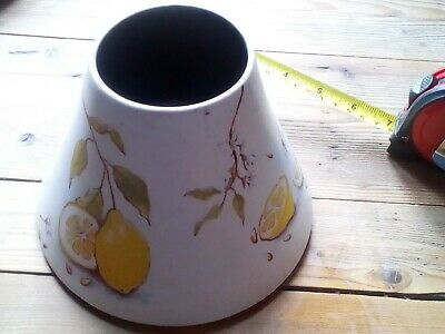 Yankee Candle Pottery Large Jar Shade Decorated With Lemons • 3.99£