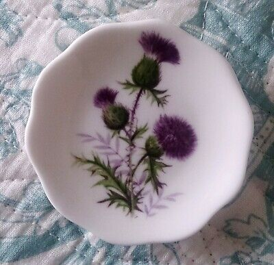 Luckenbooth Bone China Small Plate Decorated With Thistles. • 3.99£