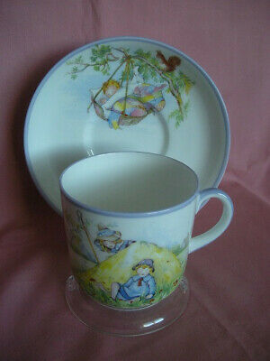 AYNSLEY Bone China NURSERY WARE CUP AND SAUCER LITTLE BOY BLUE, C1910-20. • 18.50£