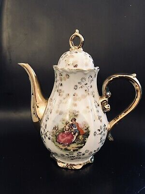 Lovely Gold Chintz & Courting Couple Small Coffee Pot  • 5.99£
