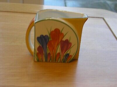 Hand Painted Clarice Cliff Crocus Ltd Edit Milk Jug By Wedgwood With Chip • 22.89£