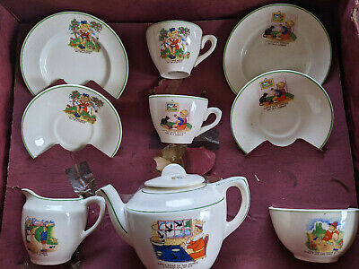 Ellar Vintage Childrens Nursey Rhyme Tea Set • 18£